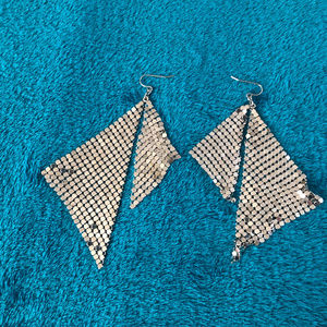 New York & Company Jewelry - Super Sparkly Silver Dangling Triangular Earrings